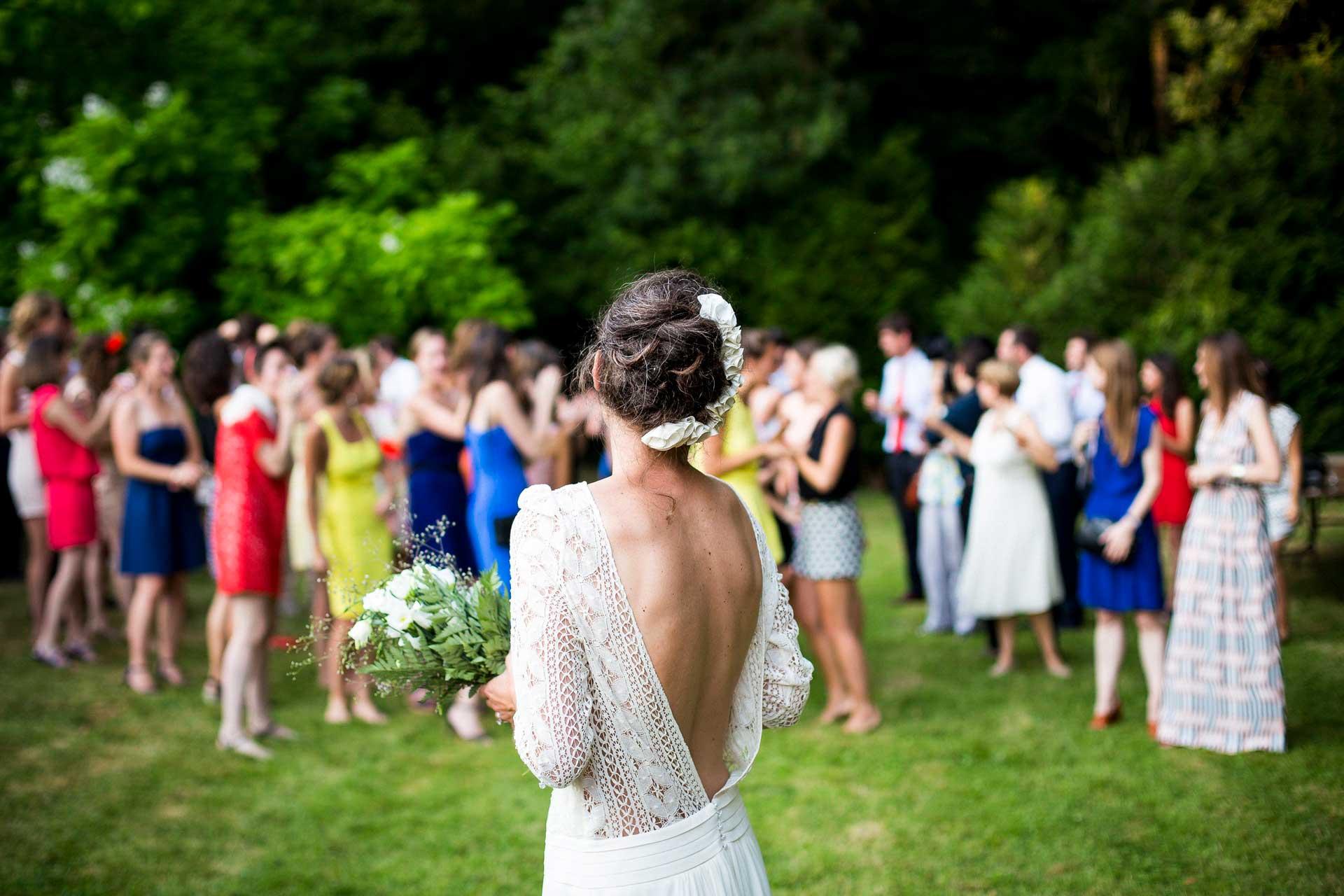 Bilde av brud på i bryllup med Volum Event